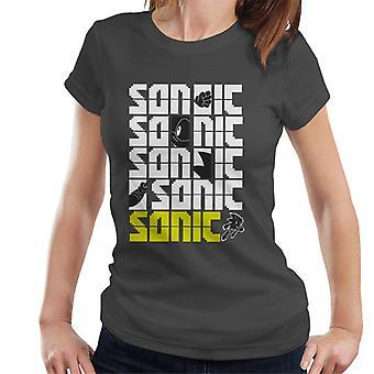 声波刺猪声波刺猪像素口号女式 T恤