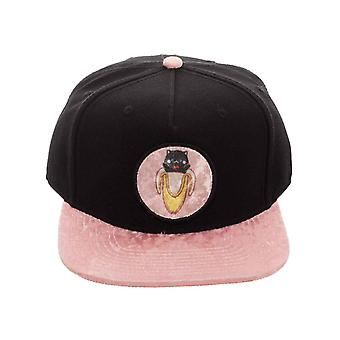 Bananya Baseball Cap Logo  pink plush brim new Official Anime Black Snapback