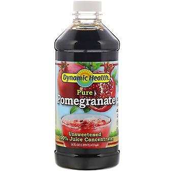 Dynamic Health  Laboratories, Pure Pomegranate, 100% Juice Concentrate, Unsweete