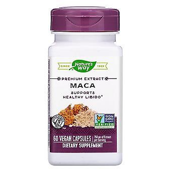 Naturaleza's Way, Extracto Premium, Maca, 350 mg, 60 Cápsulas Veganas
