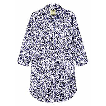 British Boxers Rosy Posy Nightshirt - Blue/White