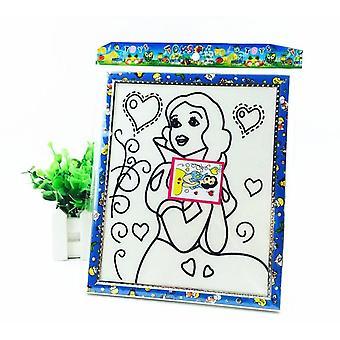 8 Farben Schnee Perle Schlamm Malerei Board Hand Malerei Kunst, Zeichnung Playdough Set