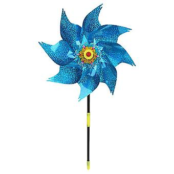 1pc Wind Spinner Windmill Toys Kids Children Gifts Garden Decoration Rotation Glitter Sequin Windmills Glow Colorful Toy