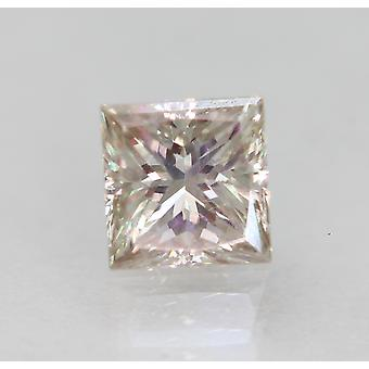 Certified 0.61 Carat K VVS2 Princess Enhanced Natural Loose Diamond 4.73x4.59mm