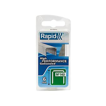 Rapid 140/6NB 6mm Gegalvaniseerde staples Narrow Box 970 RPD1406NB