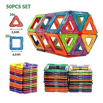 50pcs Big Size Magnetic Building Blocks Educational Toy