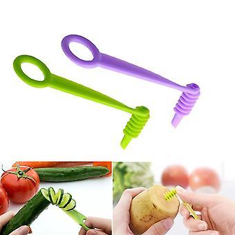 Manuelle Gemüse Spiralmesser, Schraube Slicer Klinge - Hand Schneider Cutter