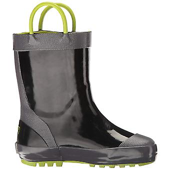 Kids Kamik Girls Chomp Rubber Knee High Pull On Rain Boots