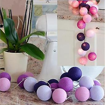 3m Led Cotton Ball Garland Luci Stringa-fata Luci Decorazione Set 2