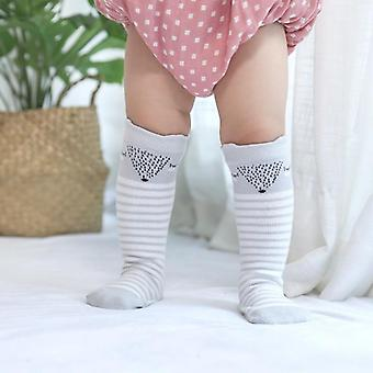 Cute Baby Tiny Newborn Knitted Cotton Blend Knee Cartoon Sock