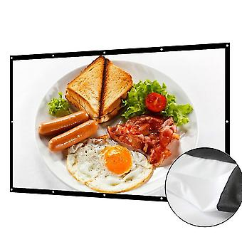 16:9 Projector Screen 3d Hd Home Theater Wall Matt White Yg620 Projection Screen Portable Anticrease Canva