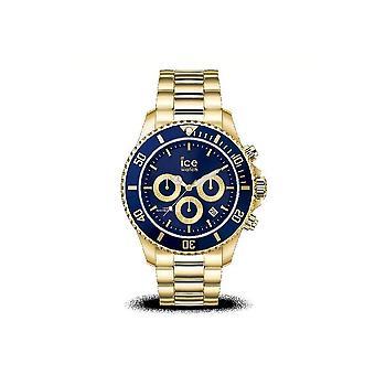Ice Watch - Wristwatch - Ladies - ICE steel - Gold blue - Medium - CH - 017674