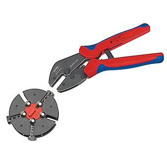 Knipex Multicrimp Pliers Set - 3 Quick Change Cartridges KPX973301