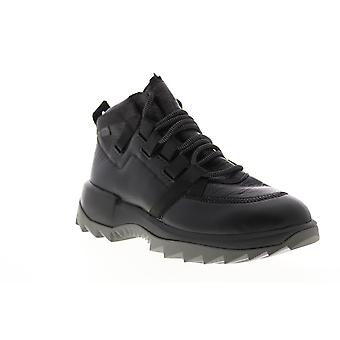 Camper Helix  Mens Black Leather Lace Up Casual Dress Boots