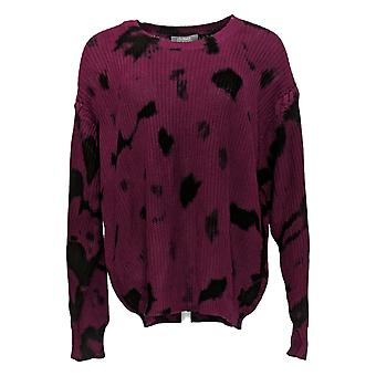 Lisa Rinna Collection Women's Sweater Tie-Dye Pullover Purple A367834