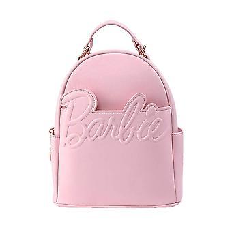 Loungefly x 芭比标志粉红色时尚背包