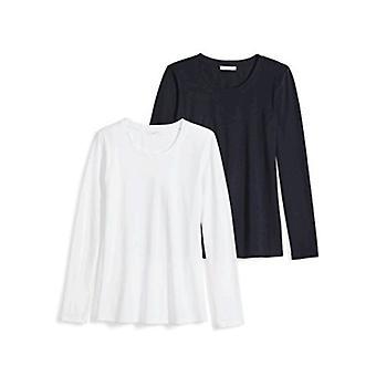 العلامة التجارية - طقوس اليومية Women's خفيفة الوزن 100% Supima Cotton Long-Sleev...