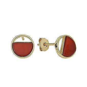 Achat Stein Gold Ohrringe