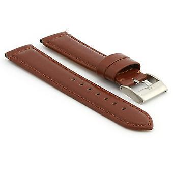 Strapsco gladde gewatteerde lederen horlogeband