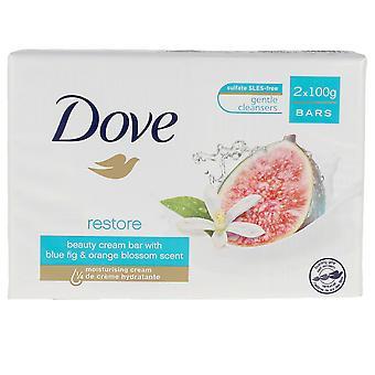 Dove Go Friss szappan kék füge és narancs szett 2 X 100 Gr Unisex