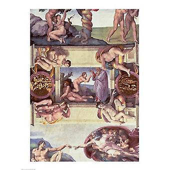 Sistine Chapel Ceiling The Creation of Eve 1510 Poster Print by Michelangelo Buonarroti