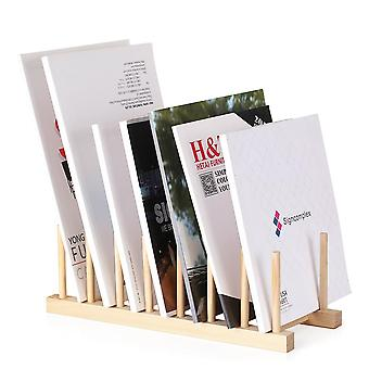 Multi-purpose Wooden Book Magazine Storage Stand, Organizer Holder Desk