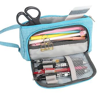 Lápiz caso pluma de gran capacidad, bolsa de lápiz, caja de la escuela