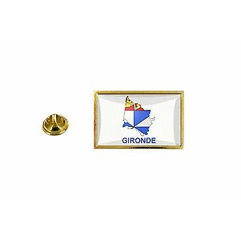 pinheiro emblema pinheiro pin-apos;bandeira país mapa departamento gironde