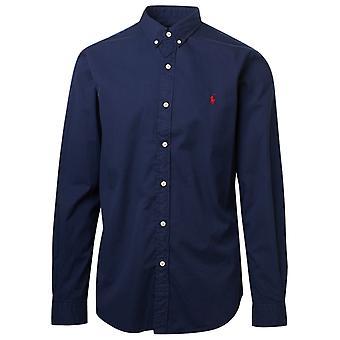Ralph Lauren 710815557003 Mænd's Blå Bomuldsskjorte