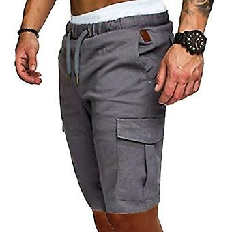 Summer Men Elastic Trunk Fitness Work Casual Breathable Gym Shorts