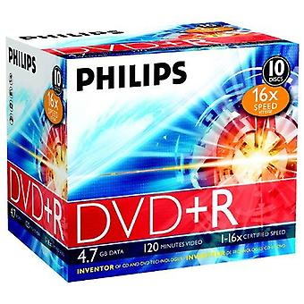 Philips dvd+r 16x 4.7Gb / 120min jc(10) 4.7gb 10pc(s) - dvds vierges (4.7 gb, 10 pc(s), 120 min, 147 x