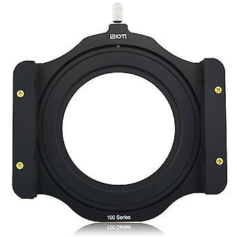 Sioti 100mm štvorcový z séria hliníkový modulárny držiak filtra + 72mm-77mm hliníkový adaptér krúžok pre lee