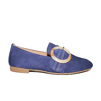 Gabor Viola 212-16 Blue Suede Leather Womens Slip On Shoes