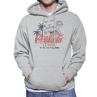 Coca Cola Classic Original Formula Tidal Wave Men's Hooded Sweatshirt