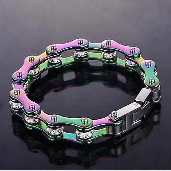 Rainbow Motorcycle Chains Bracelet Lucky Jewelry