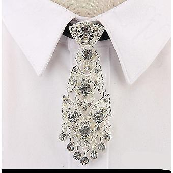 Fashion Personality Crystal, Neckties Metal Short, Luxury Tie