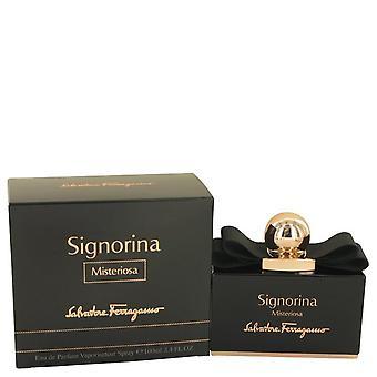 Signorina misteriosa eau de parfum spray by salvatore ferragamo 533968 100 ml