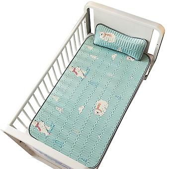 Insular Cartooon Summer Anti-skid Baby Ice Silk Mat, Include Pillow Set