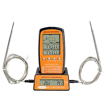 Wireless Remote, Meat Thermometer, Dual-probe Digital, Cooking Oven, Bbq