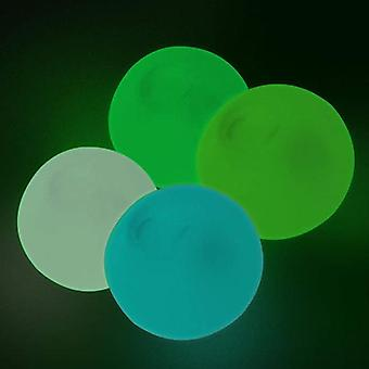 4 Stk Luminescent Stress Relief Kugeln Sticky Ball, Stick To The Wall und langsam abfallen