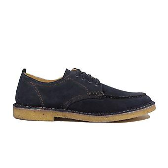 Loake Jimmy Navy Suede Leather Mens Derby Shoes