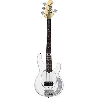Sterling by music man 4 string bass guitar, right, olympic white (rayss4-owh-r1)