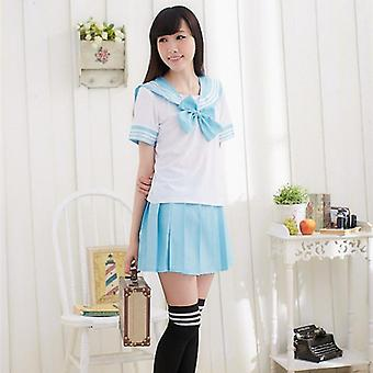 Japanse school uniform voor sailor tops + tie + rok marine stijl studenten kleding