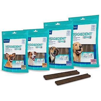 Virbac VeggieDent Fresh para problemas bucais em cães  (Cães , Snacks , Higiene dental)