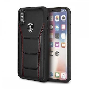 Coque Pour Iphone X / Xs En Cuir Véritable Noir