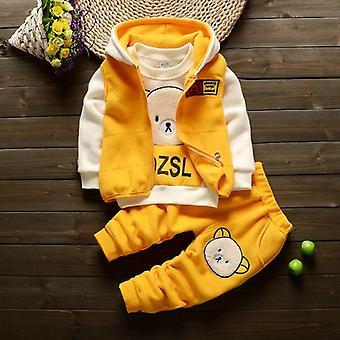 Autumn Winter Clothes Set, Kids Thick Fleece Hoodies Pants Suit
