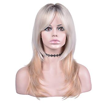 Chemical fiber silk wig for women with long curly hair