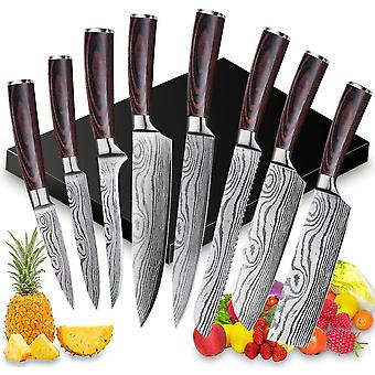 Messerset Kochmesser - Gemsemesser Fleischmesser Santokumesser Brotmesser Filetiermesser, Extra