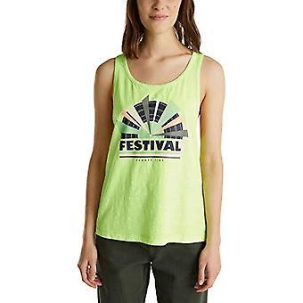 edc by Esprit 050CC1K331 T-Shirt, 760/Lime Yellow, XL Woman
