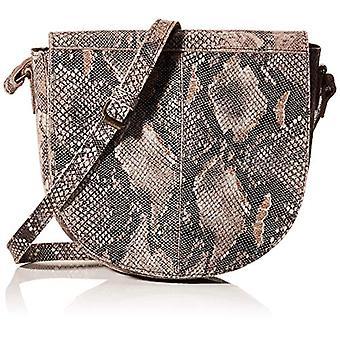 PIECES PCMAYA Leather Cross Body FC, Women's Folder Bag, AOP: Black Black Snake, 21x19x5